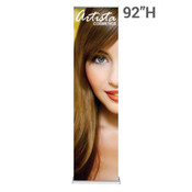 "92"" High 24"" Wide Retractable Banner Stands with Super Flat Graphics Package"