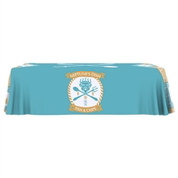8 foot length 4 sided full color table throws